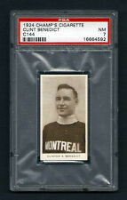 PSA 7 CLINT BENEDICT 1924 CHAMPS HOCKEY CARD ( Only 2 Cards Graded Higher)