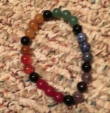 "ON SALE NOW!! 7 CHAKRAS BRACELET, 30 mm, 7.5"" AROUND; GREAT DEAL!"