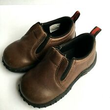 Merrell Toddler Boys Shoes Sz 5 Slip On Suede Leather Brown Loafers