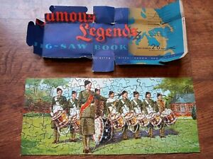 RARE JOHN WADDINGTON, FAMOUS LEGENDS JIGSAW BOOK PUZZLE.....LOT A