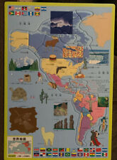 Asian - World Map America's - Frame Tray Puzzle - Not Sealed