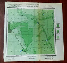 1899 Underground Water Map Roswell New Mexico Dept of Agriculture Milton Whitney