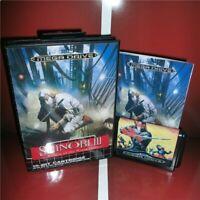 Shinobi 3 EU Cover with Box and Manual Sega Megadrive Genesis MD