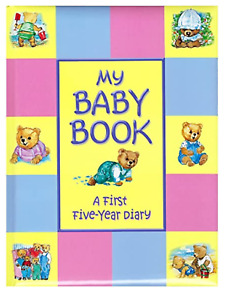 My First Five Years Baby Book Baby's Diary Record Ideal Present Keepsake Gift