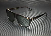 GUCCI GG0450S 002 Square Havana Havana Gold Green 57 mm Men's Sunglasses