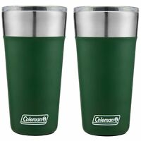 Coleman Brew Tumbler 20oz Heritage Green Insulated Stainless Steel Cup (2-Pack)