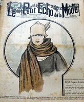 VTG 1920s PARIS FASHION & SEWING PATTERN MAGAZINE LE PETIT ECHO de la MODE 1925