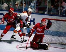 Mario Lemieux NHL Team USSR Russia Rendez-vous '87 Game Auction 8x10 Photo