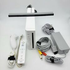 Nintendo Wii White Console System - W/ Cables and Controller Tested!