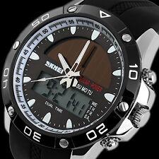 SKMEI Solar Powered Analog Digital Men's Waterproof Rubber Sports Quartz Watch