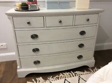 Pottery barn, white, dressers, tall boy , chest of drawers, used