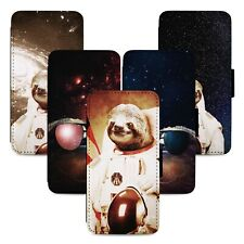 Space Sloths Flip Phone Case Cover Wallet - Fits Iphone 5 6 7 8 X 11