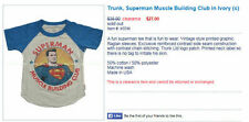 Trunk Ltd T shirt Superman Muscle building club KIDS Size 12-18 months