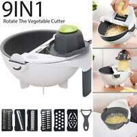 9 IN 1 Kitchen Assist Slicer Vegetable Cutter Potato Onion Carrot Grater Chopper