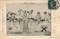 1907 VINTAGE FRANCE FRENCH FASHION MODEST WORKSHOP POSTCARD - USED