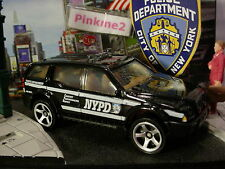 2016 POLICE RESCUE Design SPORT SUV☆Black;NYPD;City New York Dept☆LOOSE☆Matchbox