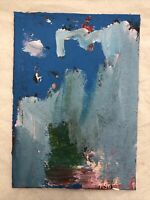 HASWORLD- ORIGINAL ACRYLIC PAINTING CANVAS Abstract Expressionism Landscape Art