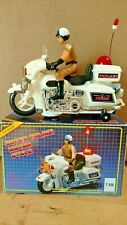 Vintage Super Police Motorcycle Battery Operated 1/10 Scale Kids Toy #T-366