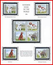 MICRONESIA 1995 FAVORITE DOGS mnh ANIMALS