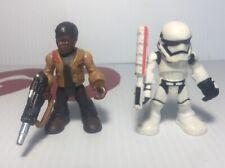 Star Wars Playskool Heroes Galactic Heroes Finn Jakku & First Order Stormtrooper