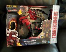 TRANSFORMERS The Last Knight Turbo Changer Dragonstorm Mega 1-Step Cyberfire NEW