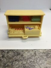 Fisher Price Loving Family Dollhouse Book Case Pull Out Bottom Shelf