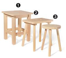 Hocker rund (Nr.3), Holzhocker, Sitzbank, Stuhl, Schemel, Fußschemel, Holz,