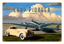Lady Pioneer Amelia Earhard Model 10E Electra Flugzeug Retro Blechschild Schild