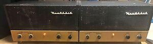 Pair Vintage Heathkit AA-10 Monoblock Tube Amps w/Cages & ALL REAL Mullard Tubes