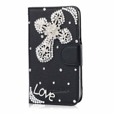 For NOKIA 8 V 5G UW Diamonds leather flip stand wallet PHONE Case Cover