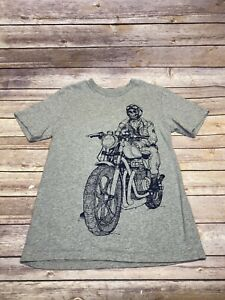Childrens Place Skeleton Motorcycle T Shirt Size XL (14)