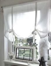 Raffrollo Gardine Shabby Chic Landhaus Retro Vintage weiß 90/110/130/150x120 cm