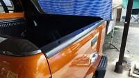 BLACK MATT MATTE REAR TAILGATE TRIM COVER FORD RANGER T6 MK2 PX2 XLS XLT 15-17