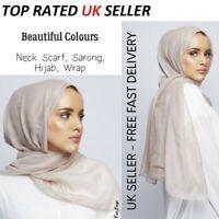 Haute Qualité Uni Mousseline hijab écharpe Châle Wrap Soft Georgette Elegant
