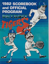 Detroit Tigers 1982 Score Book and Offical Program