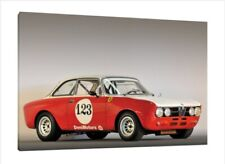 1969 Alfa Romeo GTA 1750 GTV - 30x20 Inch Canvas - Framed Picture Print