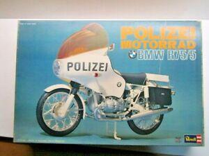 "Revell Vintage 1/8 Scale BMW R75/5 ""Polizei Motorrad"" Model Kit New & Very Rare"