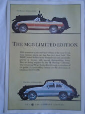 MGB Limited Edition brochure c1980