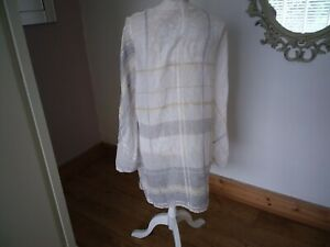 Nitya tissue  fabric sz 44 tunic blouse
