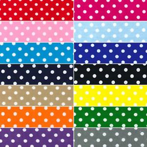 Polycotton Fabric 4mm Oh Sew Polka Dots Spots Spotty Dotty Dot
