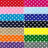 Polycotton Fabric 4mm Oh Sew Polka Dots Spots Spotty Dotty