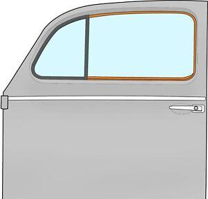 1952-1964 VW Beetle Sedan Outer Door Window Scraper and Trim Left Hand 324230