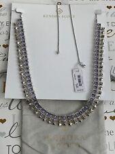 Kendra Scott Adjustable Oscar Silver Lilac Choker Crystal Necklace