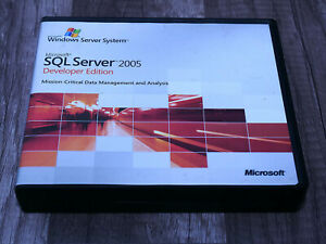 Microsoft SQL Server 2005 Developer Edition full version pre-owned