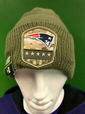 WH221 NFL New England Patriots 2019 New Era Salute to Service Woolly Hat NWT