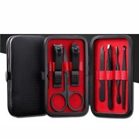 7 PCS Pedicure / Manicure Set Nail Clippers Cleaner Cuticle Grooming Kit Case