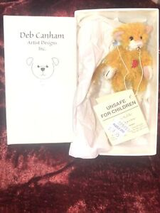 """DEB CANHAM """"CHESTER"""" MINIATURE MOHAIR CAT 3 1/2"""" LIMITED EDITION #362 Of 1,000"""