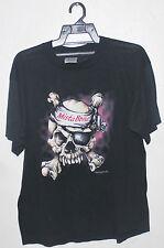 Vintage 80's Great White 50/50 Rock Metal Tour Concert Promo T-Shirt Ratt Poison