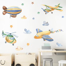 Wall stickers airplane helicopter airship star Decal Nursery Removable Decor