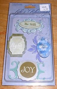 Colorbok Layered Chipboard Embellishments Faith Blessings NIP Free Ship Over $15